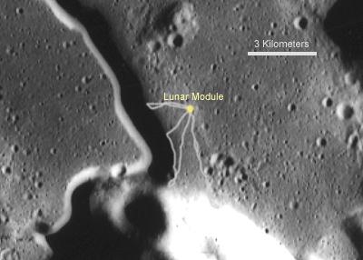 White Land Rover >> Apollo 15 Landing Site
