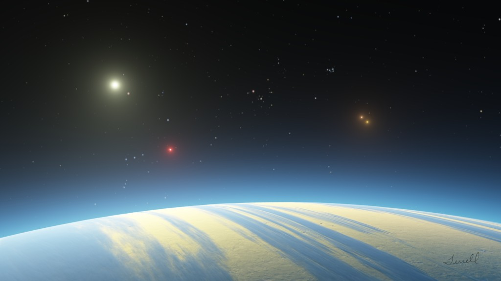 quadruple star system with planets - photo #2